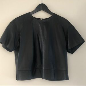 Alexandr Wang leather blouse